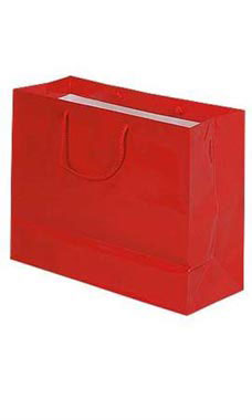 Large Glossy Red Euro Tote Bags - Case of 100