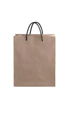 Medium Kraft Premium Folded Top Paper Bags Black Rope Handles