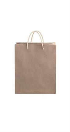 Medium Kraft Premium Folded Top Paper Bags Ivory Rope Handles