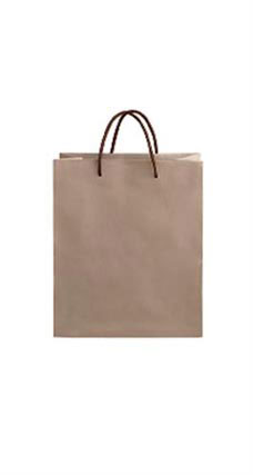 Medium Kraft Premium Folded Top Paper Bags Brown Rope Handles