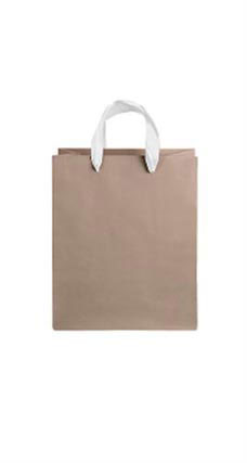 Medium Kraft Premium Folded Top Paper Bags White Ribbon Handles