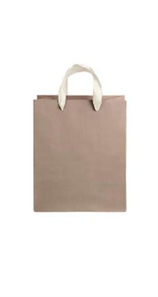 Medium Kraft Premium Folded Top Paper Bags Ivory Ribbon Handles