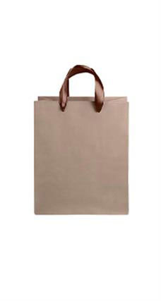 Medium Kraft Premium Folded Top Paper Bags Brown Ribbon Handles