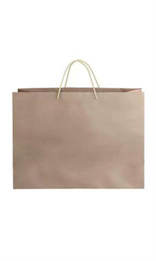 Large Kraft Premium Folded Top Paper Bags Ivory Rope Handles