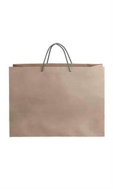 Large Kraft Premium Folded Top Paper Bags Dark Gray Rope Handles