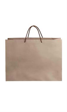 Large Kraft Premium Folded Top Paper Bags Brown Rope Handles