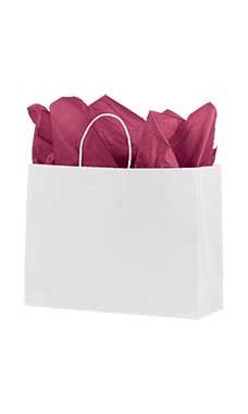 Medium White Premium Folded Top Paper Bags