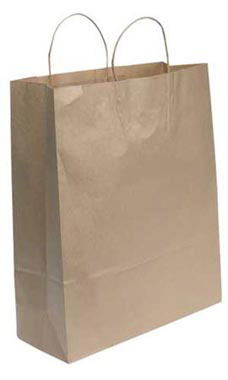 Jumbo Natural Kraft Paper Shopping Bags