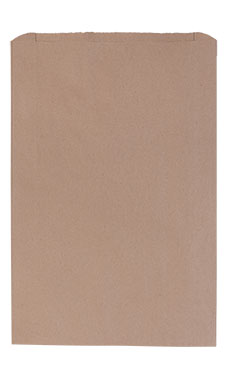 Jumbo Natural Kraft Paper Merchandise Bags - Case of 500