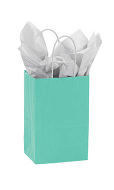 Small Turquoise Paper Shopping Bag