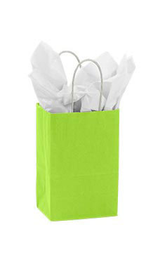 Small Lime Green Paper Shopping Bag