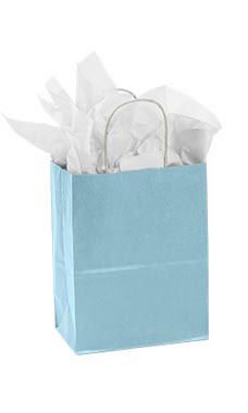 Medium Powder Blue Paper Shopper