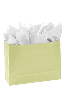 Large Ivory Paper Shopping Bags - Case of 25