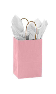 Small Pink Paper Shopping Bag