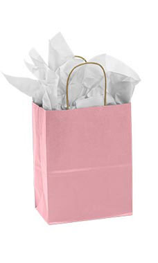 Medium Pink Paper Shopping Bag