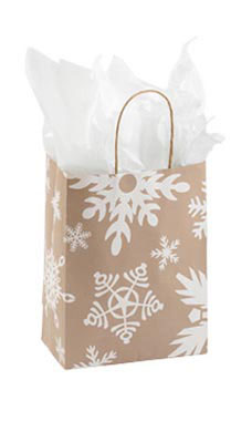 Medium Giant Snowflake Paper Shopping Bags