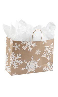 Large Giant Snowflake Paper Shopping Bags