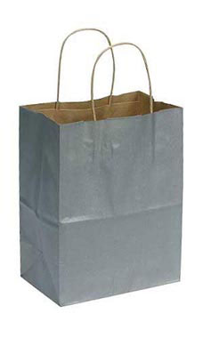 Medium Metallic Silver Paper Ping Bags Case Of 100
