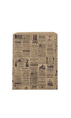 Large Newsprint Paper Merchandise Bags - Case of 500