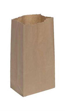 Small Natural Paper Grocery Bags - Case of 1,000