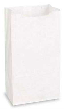 Medium White Paper Grocery Bags - Case of 1,000