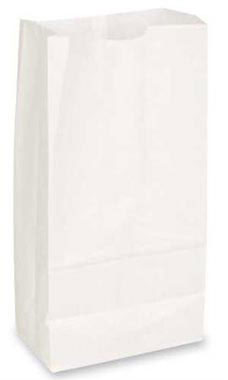 Large White Paper Grocery Bags - Case of 1,000