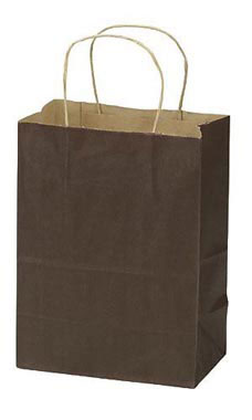 Medium Chocolate Paper Shopping Bags - Case of 100
