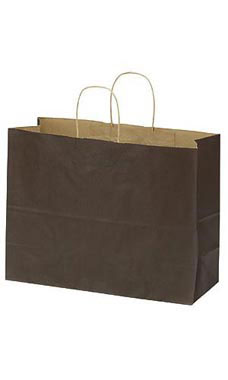 Large Chocolate Paper Shopping Bag