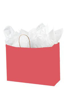 Large Red Paper Shopping Bags - Case of 100