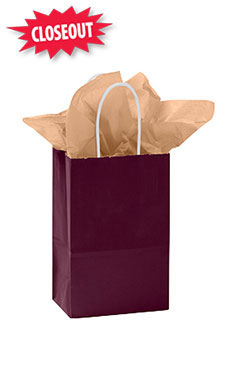 Small Wineberry Glossy Paper Shopping Bag