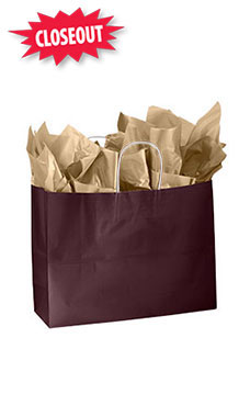 Large Wineberry Glossy Paper Shoppers