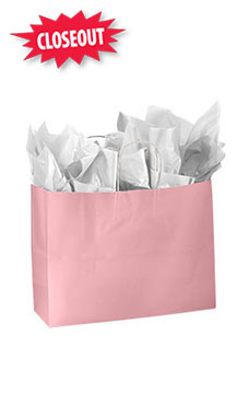 Large Pink Glossy Paper Shopper