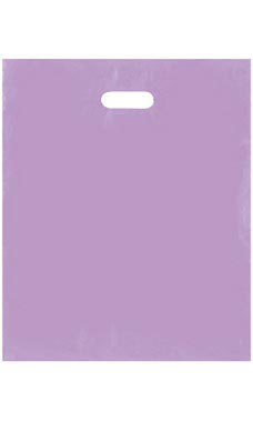 Large Lavender Frosted Plastic Merchandise Bags - Case of 250