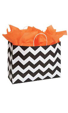 Large Classic Chevron Paper Shopping Bags - Case of 100