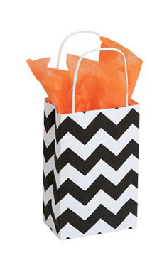 Small Classic Chevron Paper Shopping Bags - Case of 100