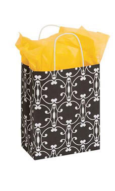 Medium Charming Halo Paper Shopping Bags - Case of 100