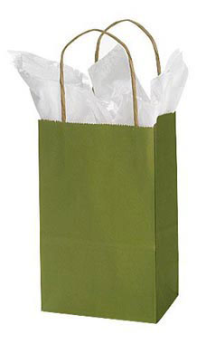 Small Rain Forest Paper Shopping Bags - Case of 25