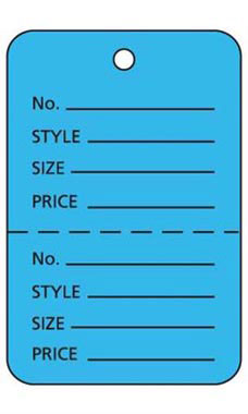 Large Unstrung Blue Perforated Coupon Price Tags