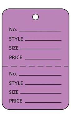 Large Unstrung Lavender Perforated Coupon Price Tags
