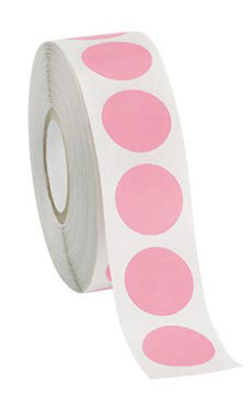 Pink Self-Adhesive Labels