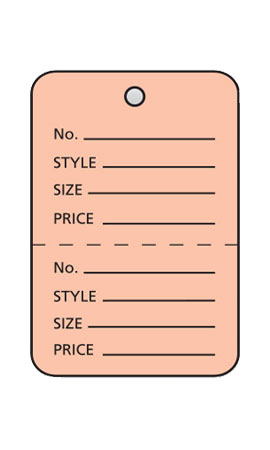 Small Unstrung Pink Perforated Coupon Price Tags
