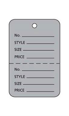 Small Unstrung Gray Perforated Coupon Price Tags