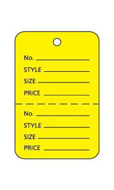 Small Unstrung Yellow Perforated Coupon Price Tags