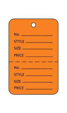 Small Unstrung Orange Perforated Coupon Price Tags