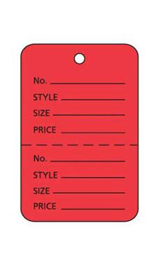 Small Unstrung Red Perforated Coupon Price Tags