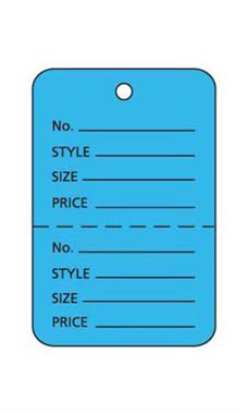Small Unstrung Blue Perforated Coupon Price Tags