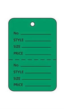 Small Unstrung Green Perforated Coupon Price Tags