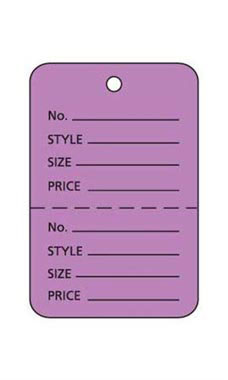 Small Unstrung Lavender Perforated Coupon Price Tags
