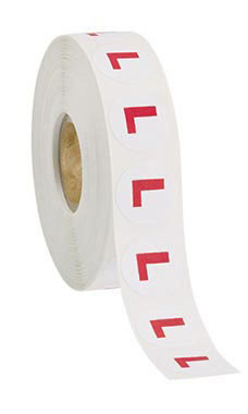"Size ""L"" Self-Adhesive Size Labels"
