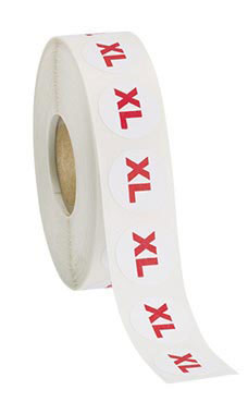 Self-Adhesive Size Labels - Size XL